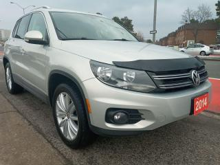 Used 2014 Volkswagen Tiguan LEATHER-PANORAMA ROOF-BLUETOOTH-AUX-ALLOYS for sale in Scarborough, ON