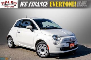 Used 2015 Fiat 500 5 SPEED / 4 PASSENGER / REAR WIPER / USB INPUT for sale in Hamilton, ON