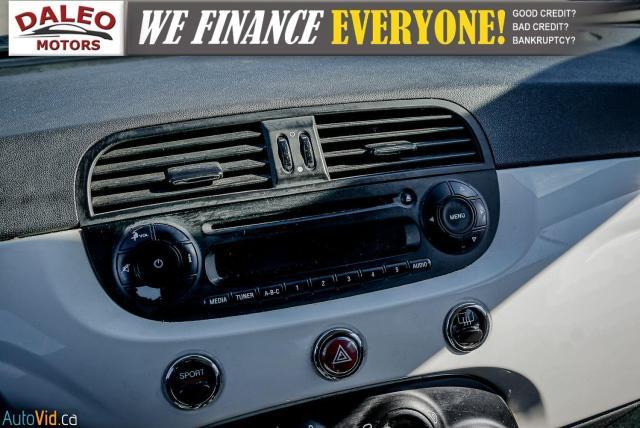 2015 Fiat 500 5 SPEED / 4 PASSENGER / REAR WIPER / USB INPUT Photo19