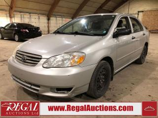 Used 2004 Toyota Corolla CE 4D Sedan for sale in Calgary, AB