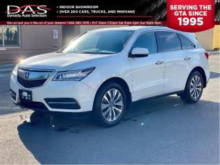 Used 2016 Acura MDX NAV PKG AWD NAVI/7 PASS/LANE DEPART/BLIND SPOT for sale in North York, ON