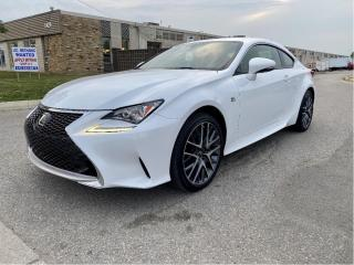 Used 2017 Lexus RC F-SPORT 300 NAVIGATION/REAR VIEW CAMERA/SUNROOF for sale in North York, ON