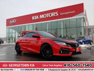 Used 2020 Honda Civic Si Coupe SI | CLN CRFX | 6 SPD M/T | NAV | ROOF| 10K| TINTS for sale in Georgetown, ON