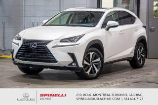 Used 2018 Lexus NX 300h EXECUTIF AWD; CUIR TOIT GPS ANGLES MORT LSS+ HYBRIDE - NAVIGATION - CAMERA 360 - AFFICHAGE TETE HAUTE - CHARGE SANS FILS - JANTES 18'' for sale in Lachine, QC