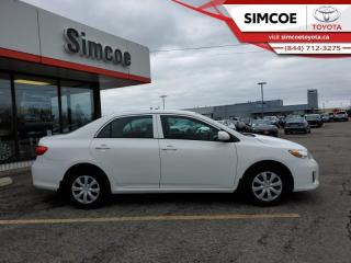 Used 2013 Toyota Corolla CE  -  Power Windows -  Power Doors for sale in Simcoe, ON