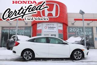 Used 2017 Honda Civic Sedan LX - HONDA CERTIFIED - RATES STARTING @ 3.69% OAC for sale in Sudbury, ON