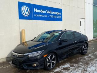 Used 2017 Honda Civic COUPE TOURING - HTD LEATHER SEATS / SUNROOF / CARPLAY for sale in Edmonton, AB