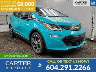 New 2021 Chevrolet Bolt EV Premier *PLUS $8,000 GOV. REBATE!* for sale in Burnaby, BC