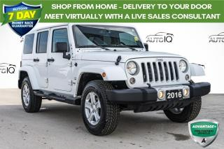 Used 2016 Jeep Wrangler Unlimited Sahara LEATHER INTERIOR   LOW MILEAGE for sale in Innisfil, ON