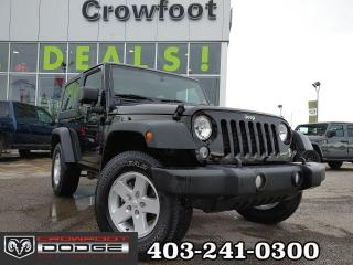 Used 2018 Jeep Wrangler JK SPORT WITH ALLOYS & HARD TOP for sale in Calgary, AB