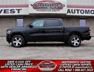 Used 2020 Dodge Ram 1500 SPORT CREW HEMI V8, FULLY LOADED, MANITOBA TRADE! for sale in Headingley, MB