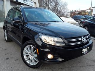 Used 2017 Volkswagen Tiguan Comfortline - LEATHER! PANO ROOF! BACK-UP CAM! CAR PLAY! for sale in Kitchener, ON
