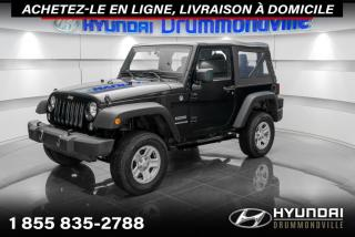 Used 2015 Jeep Wrangler SPORT 4WD + GARANTIE + CRUISE + WOW !! for sale in Drummondville, QC