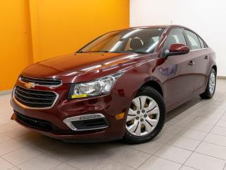 Used 2016 Chevrolet Cruze LT BLUETOOTH AUTOMATIQUE CAMÉRA *BAS KM* for sale in St-Jérôme, QC