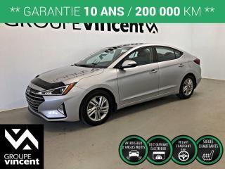 Used 2020 Hyundai Elantra Preferred w/Sun & Safety ** GARANTIE 10 ANS ** Wow! Comme neuf et à très bas kilométrage! for sale in Shawinigan, QC