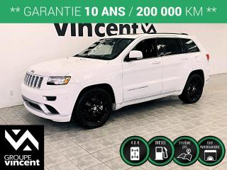 Used 2015 Jeep Grand Cherokee SUMMIT 4X4 DIESEL ** GARANTIE 10 ANS ** Beaucoup d'équipements! for sale in Shawinigan, QC
