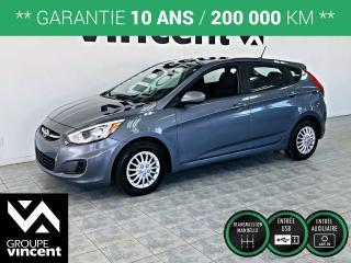 Used 2017 Hyundai Accent L ** GARANTIE 10 ANS ** Petite voiture économique et fiable! for sale in Shawinigan, QC