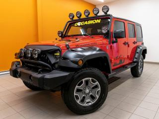Used 2013 Jeep Wrangler RUBICON 4X4 SIÈGES CHAUFFANTS CUIR *BAS KM* for sale in Mirabel, QC