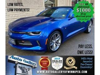 Used 2017 Chevrolet Camaro 1LT* Convertible/Remote Starter/LOW KILOMETRES for sale in Winnipeg, MB