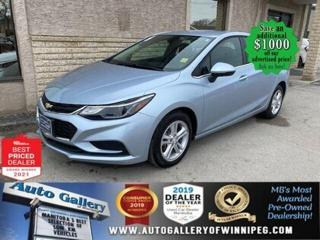 Used 2018 Chevrolet Cruze LT* LOW KMS/Reverse Camera/Heated Seats for sale in Winnipeg, MB