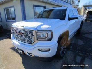 Used 2016 GMC Sierra 1500 GREAT KM'S DENALI EDITION 5 PASSENGER 5.3L - V8.. 4X4.. CREW-CAB.. SHORTY.. NAVIGATION.. LEATHER.. HEATED/AC SEATS.. POWER PEDALS & MIRRORS.. for sale in Bradford, ON