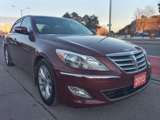 Used 2013 Hyundai Genesis LEATHER-SUNROOF-BLUETOOTH-SUX-USB-ALLOYS for sale in Scarborough, ON