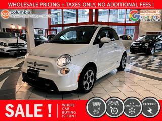 Used 2014 Fiat 500 E Fiat 500e for sale in Richmond, BC
