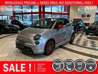 Used 2017 Fiat 500 E 500e - No Accdient / Nav / No Dealer Fees for sale in Richmond, BC