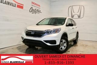 Used 2016 Honda CR-V 2 RM 5 portes LX for sale in Blainville, QC