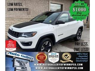 Used 2018 Jeep Compass Trailhawk* 4x4/Leather/Navigation/REMOTE STARTER for sale in Winnipeg, MB