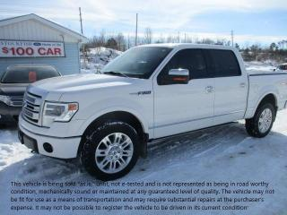 Used 2014 Ford F-150 PLATINUM for sale in North Bay, ON