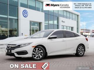 Used 2016 Honda Civic Sedan EX  - Sunroof -  Bluetooth for sale in Kanata, ON