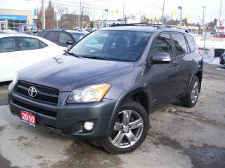 Used 2010 Toyota RAV4 ONE OWNER,SPORT,CERTIFIED,TINTED, ROOF RACK for sale in Kitchener, ON
