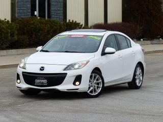 Used 2012 Mazda MAZDA3 GT,LEATHER,BOSE AUDIO,LOADED,NO-ACCIDENT,CERTIFIED for sale in Mississauga, ON