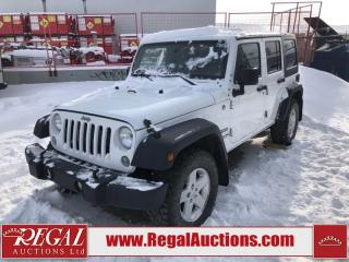 Used 2014 Jeep Wrangler Unlimited Sport 4D Utility 4WD 3.6L for sale in Calgary, AB