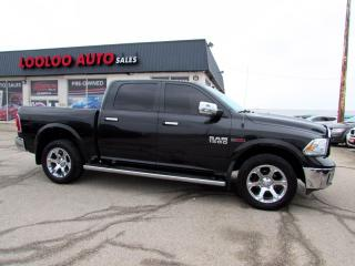 Used 2016 RAM 1500 Laramie Crew Cab Diesel 4WD Navi Camera Certified for sale in Milton, ON