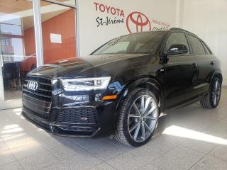Used 2018 Audi Q3 * TECHNIK * S-LINE * CUIR * TOIT PANO * GPS for sale in Mirabel, QC