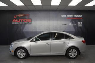 Used 2016 Chevrolet Cruze LT 1.4L AUTOMATIQUE CAMERA BLUETOOTH 95 074 KM !! for sale in Lévis, QC