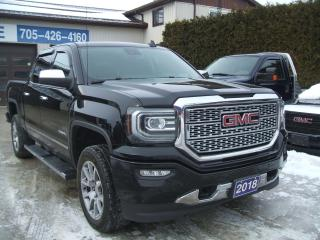 Used 2018 GMC Sierra 1500 DENALI, Crew Cab, 4wd for sale in Beaverton, ON