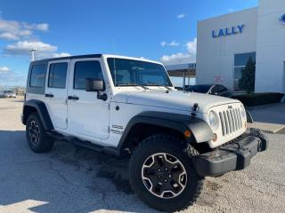 Used 2010 Jeep Wrangler Unlimited Sport SPORT|4WD|HARD TOP|SOFT TOP|REMOVABLE DOORS|CRUISE for sale in Leamington, ON