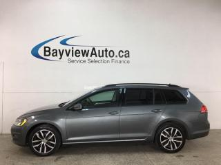 Used 2016 Volkswagen Golf Sportwagon 1.8 TSI Comfortline - 6SPD! HTD LEATHER! NAV! PANOROOF! LOADED! for sale in Belleville, ON