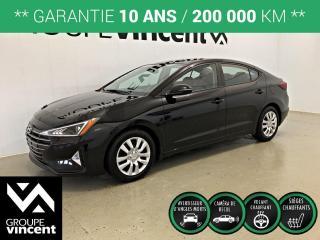 Used 2019 Hyundai Elantra PREFERRED ** GARANTIE 10 ANS ** Berline à bas kilométrage! for sale in Shawinigan, QC