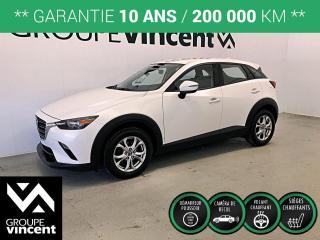 Used 2019 Mazda CX-3 GS MAGS ** GARANTIE 10 ANS ** VUS agile en ville et à bas kilométrage! for sale in Shawinigan, QC