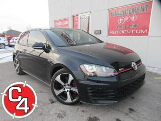 Used 2017 Volkswagen Golf GTI AUTOBAHN CUIR NAVY TOIT MAGS MANUEL for sale in St-Jérôme, QC