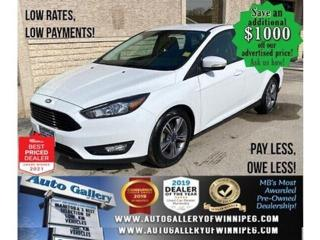 Used 2017 Ford Focus SE* LOW KMS/Reverse Camera/Bluetooth/HEATED SEATS for sale in Winnipeg, MB