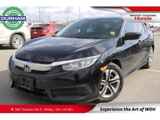 Used 2017 Honda Civic LX | CVT | Heated Front Seats for sale in Whitby, ON