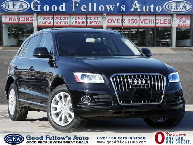2017 Audi Q5 PROGRESSIV, AWD, PAN ROOF, LEATHER & POWER SEATS