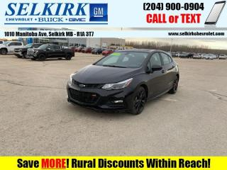 Used 2018 Chevrolet Cruze RS Package  *HEATED SEATS, REMOTE START* for sale in Selkirk, MB
