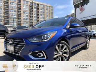 Used 2020 Hyundai Accent Ultimate No Accidents!! Power windows, locks and seats. AC, Sunroof, heated seats and keyless remote for sale in North York, ON