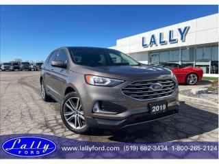 Used 2019 Ford Edge Titanium, AWD, Roof, Nav, Only 17,679 kms!! for sale in Tilbury, ON